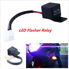 2-Pin 12V Electronic LED Flasher Relay Fix Motorcycle Turn Signal Lights Blinker