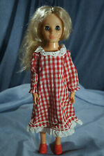1960s Ideal Crissy Family Friends Doll Outfit Red Gingham Picnic Dress