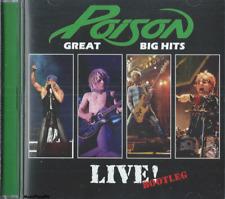 Poison - Great Big Hits / Live! Bootleg - Hard Rock Pop Music Cd