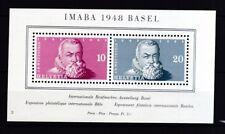 Schweiz 1948 postfrisch MiNr. Block 13  Johann Rudolf Wettstein
