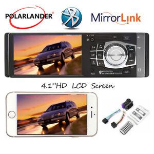 """4.1""""HD 1DIN Car Radio Stereo Bluetooth MP3/MP4 Player Wheel Control FM/USB/TF/EQ"""