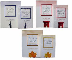 Basildon Bond Paper Writing Set Includes Writing Pad & Envelopes 3 TYPES