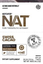 PRUVIT KETO NAT KETONES CHETONI 20 bustine CACAO SENZA CAFFEINA