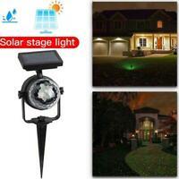 Solar LED Light Carnival Moving Color Change Spotlight Garden Party Stage O7F9