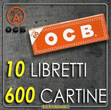 600 CARTINE OCB ORANGE CORTE - 10 Libretti da 60 Fogli - ARANCIONI REGULAR