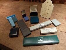 Job Lot Bundle Jewellery Boxes Storage  Ring Display Various Designs Makes Sizes