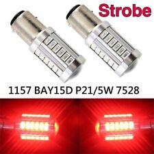 Strobe Brake Light 1157 2057 3496 7528 BAY15D 33 SMD LED Red K1 HA