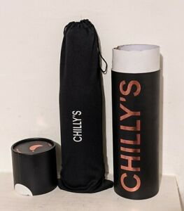 Chilly's Rose Gold water bottle 750ml chrome edition stainless steel
