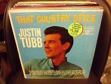 JUSTIN TUBB That Country Style LP VG+ 1967 Vocalion VL 3802 IN SHRINK