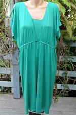 Katies Size Xl-18 Emerald Green Dress Cool Open Shoulder Style