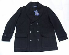 $595.00 POLO RALPH LAUREN WOOL-BLEND DOUBLE BREASTED PEACOAT  NWT (LARGE)