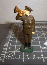 Made in England Lead WWI Soldier, Bugle player, 2.25 inch tall, great condition