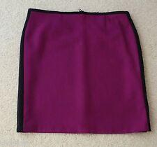 Ladies M&s Size 20 Premium Fabric Knee Length Pencil Skirt 24l Magenta