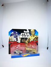Mattel Hot Wheels Star Wars 1:64 Scale Diecast R2-D2 & C-3PO Character Cars