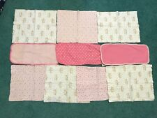 Lot of 10 Baby Girl Pink Burp Cloths - Gerber, etc - Excellent condition!