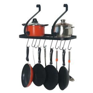 Hanging Pot and Pan Hanger Kitchen Wall Mount Rack Cookware Storage Organizer