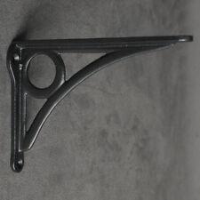 "Pair Black 6x4"" ANTIQUE HEAVY CAST IRON VICTORIAN SHELF WALL BRACKETS - BR25bx2"