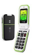Doro Teléfono fácil 410 Negro EE bloqueado Teléfono Móvil Flip FOLD Big Button