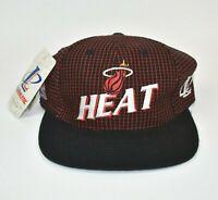 Miami Heat Logo Athletic Vintage 90's NBA Adjustable Snapback Cap Hat - NWT