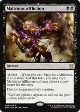 MALICIOUS AFFLICTION Eternal Masters MTG Black Instant Rare