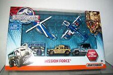JURASSIC WORLD PARK MATCHBOX 5 PC MISSION FORCE SET