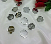 Personalised Shell Wedding Favours x50 Table Decorations Scatters Mr & Mrs