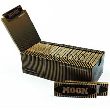 1 box 50 booklets Moon Gold Cigarette Rolling Papers 70*36mm 2500 leaves