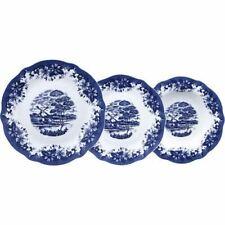 Servizio di Piatti da Tavola in Porcellana Decoro Inglese Blu 18 Pezzi