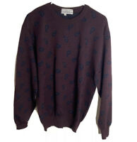 Tricota St Raphael Saks fifth Avenue men's vintage pull over sweater sz M Maroon