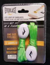 Everlast Led Light Up Shoelaces one size fits all! green color brand new