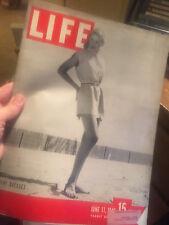 LIFE Magazine June 17, 1946 WYETH - BOXING - SHRINES - VETS - AUTOS - FIRE -