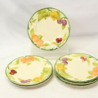 "Franciscan USA Fresh Fruit 8"" Salad Plates 8"" Lot of 6"