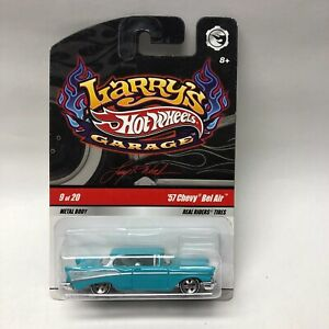 Hot Wheels Larry's Garage '57 Chevy Bel Air Turquoise 9 of 20 Real Riders 1957