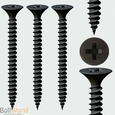 BLACK BUNGLE HEAD DRYWALL FINE THREADED SCREWS DRYLINING WOOD FRAMEWORK STUDING