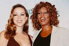 Mariah Carey & Whitney Houston 11x17 Mini Poster Posing Together Smiling