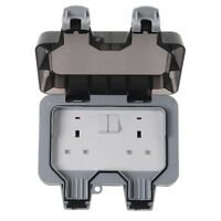 BG WP22 - Waterproof Outdoor Garden 13A 2 Gang Switched Plug Double Socket IP66