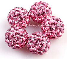 10mm Sparkle Clay Rhinestone CZ Crystal Pave Disco Ball Beads For Jewelry Making