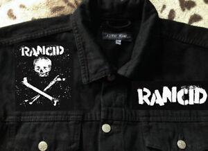 Rancid Out Come The Wolves Punk Girls' Black Denim Cut-Off Waistcoat Jacket 8-16