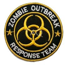 """LARGE ZOMBIE APOCALYPSE """"OUTBREAK RESPONSE TEAM"""" Iron-On Embroidered Team Patch"""