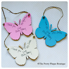 Personalised Butterfly plaque wooden gift teachers family friends garden home