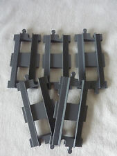 5 x LEGO Duplo Schiene Eisenbahn - Gerade grau - dark grey - Gleis - TOP