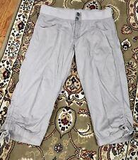 Gray Cotton Capris Crop Pants M