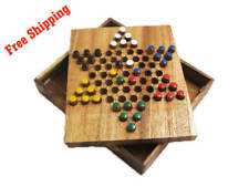 CHINESE CHECKERS, Classic Strategy Wooden Game, Board Game, Brain Teaser