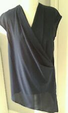 Ladies BNWT Wallis Navy crossover sleeveless Asymetric tunic/top size S (10/12)