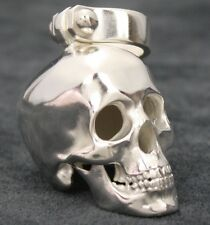 Totenkopf Anhänger Biker Schmuck Harley Skull Sterlingsilber 925 Kettenanhänger