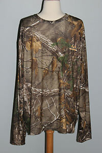 New REALTREE Xtra Long Sleeve Performance Shirt Size XL Hunting Camo Top