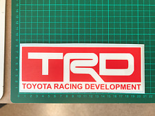 TRD Racing sticker TOYOTA RACING Developments Celica Supra Starlet Glanza 200 mm