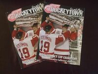 2002 DETROIT RED WINGS STANLEY CUP LIMITED EDITION PROGRAMS (2) EXC