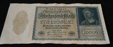 1922 German 10000 Mark Bank Note in EF Condition Nice OLD Collectible Note!