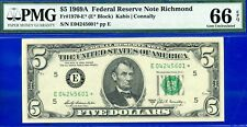 *1969-A $5 FRN Richmond **STAR** ((Finest Known)) PMG GEM UNC 66EPQ # E04245601*
